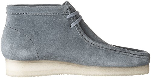 Clarks Mens Wallabee Chukka Boot In Camoscio Blu Ardesia