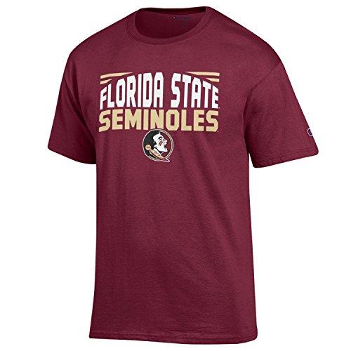 NCAA Champion Men's Push Ahead Short sleeve T-Shirt Florida State Seminoles X-Large (Tailgate Florida Seminoles State)