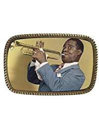 Louis Armstrong Brass Belt Buckle Made In USA