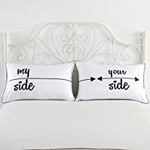 my side and your side Pillowcases, Couples Gift, His Hers Pillowcase Set, Couples Pillowcase Set,19 x 29 Inch