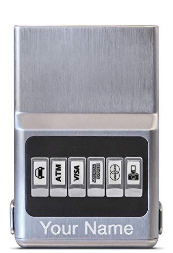 RFID Blocking Wallet Money Clip - ACM Custom Engraved Personalized ProTek Credit Card Case Unisex ()