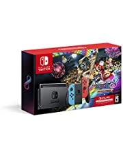 Nintendo Switch? w/ Neon Blue & Neon Red Joy-Con? + Mario Kart? 8 Deluxe (Full Game Download) + 3 Month Nintendo Switch Online Individual Membership