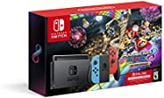 Nintendo Switch? w/ Neon Blue & Neon Red Joy-Con? + Mario Kart? 8 Deluxe (Full Game Download) + 3 Month Ni