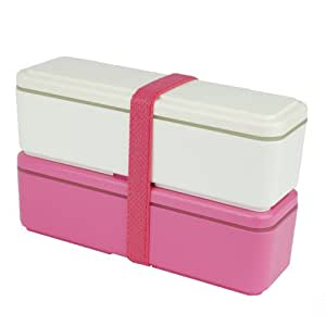 GEL-COOL fit series lunch box Slim SS White × Pink GC-430 (Japan Import)