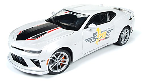 AUTO WORLD 1:18 MUSCLE CARS U.S.A. - 2017 CHEVROLET CAMARO SS - INDY 500 OFFICIAL PACE CAR - Car Pace Camaro Indy 500