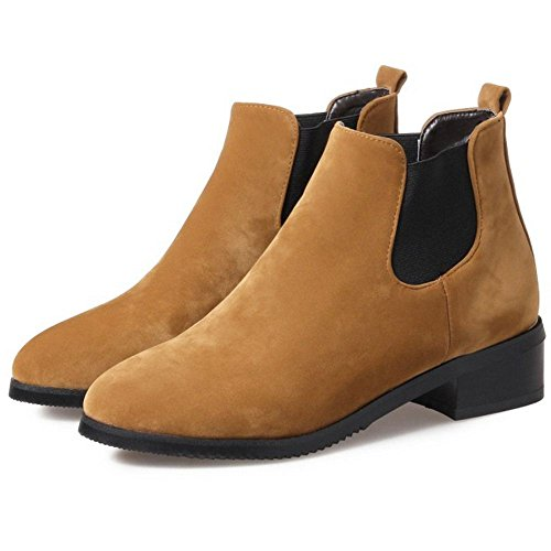 on Yellow Chelsea Brown Women Boots KemeKiss Slip IF67w