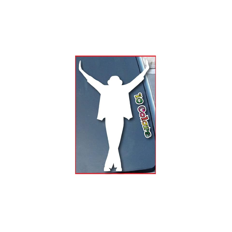 Michael Jackson This is it Car Window Vinyl Decal Sticker 9 Tall (Color White)