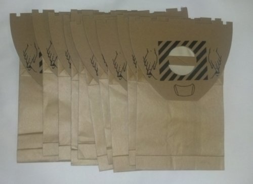 Advance / Kent / EuroClean UZ964 Backpack HipVac Replacement Commercial Bags, 10 Bags + 2 Motor Filters.