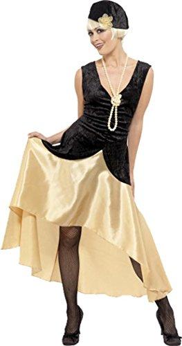 20s Gatsby Girl Costume, Black & Gold (20s Costumes Ebay)