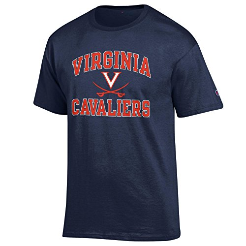 Champion NCAA Men's Shirt Short Sleeve Officially Licensed Team Color Tee, Virginia Cavaliers, ()