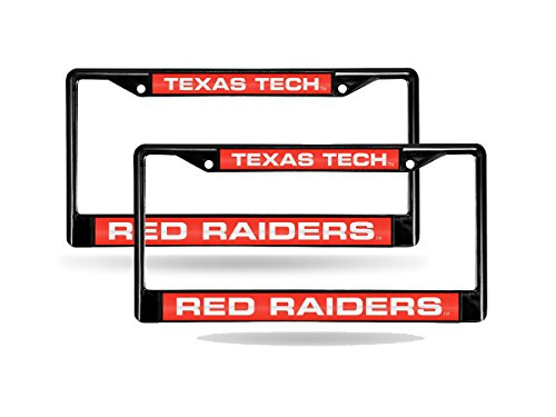 Texas Tech Red Raiders NCAA Black Metal (2) Laser License Plate Frame ()