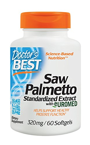 Doctor's Best Best Saw Palmetto Extract (320 mg), Softgel Capsules, (Extract Standardized 60 Softgels)