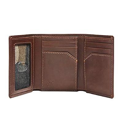 HOJ Co. DEER Trifold-Full Grain Leather-Mens Trifold Wallet-Hunter Gift