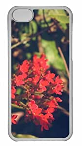 LJF phone case Customized iphone 5/5s PC Transparent Case - Flower 205 Personalized Cover