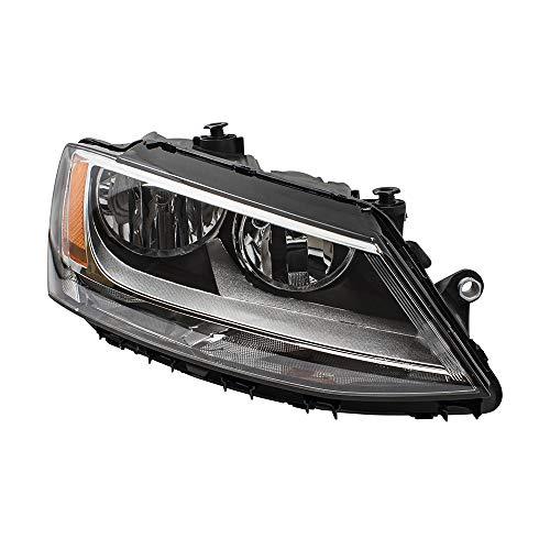Passengers Combination Halogen Headlight Headlamp Replacement for 11-18 Volkswagen Jetta GLI Sedan 5C7941006 VW2503146