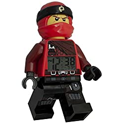 LEGO Ninjago Kai Minifigure (2018) Alarm Clock, 9.5, Red (Model: 9009181)