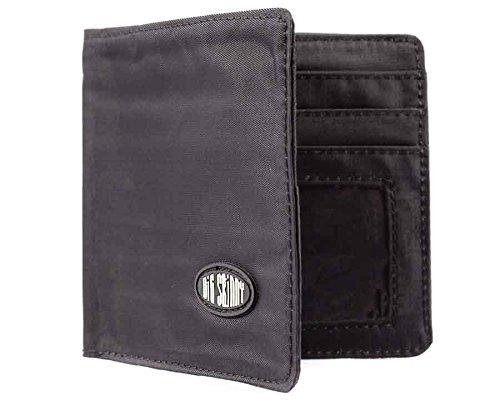 Big Skinny Men's World Bi-Fold Slim Wallet, Holds Up to 35 Cards, Black (World Best Wallet Brand)
