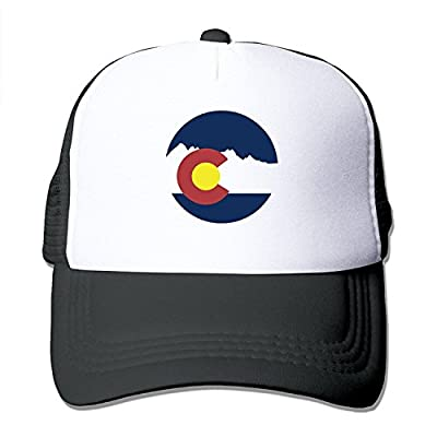 jia3261 Mountain Colorado Flag Round Mesh Unisex Adult-one Size Snapback Trucker Hats by jia3261