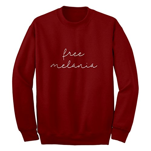 Indica Plateau Crew Free Melania Now Medium Red Sweatshirt