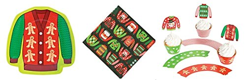 Ugly Sweater (8) Party Plates (16) Napkins and (50)