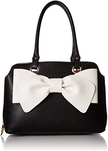 (Betsey Johnson Pop Collar Satchel, black)