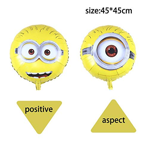Best Quality - Ballons & Accessories - 1pcs/lot 9265cm Large Size Baloon Despicable Me Minion Kid Toys Balloon Birthday Wedding Party Decoration Balloons - by LA Moon's - 1 PCs ()