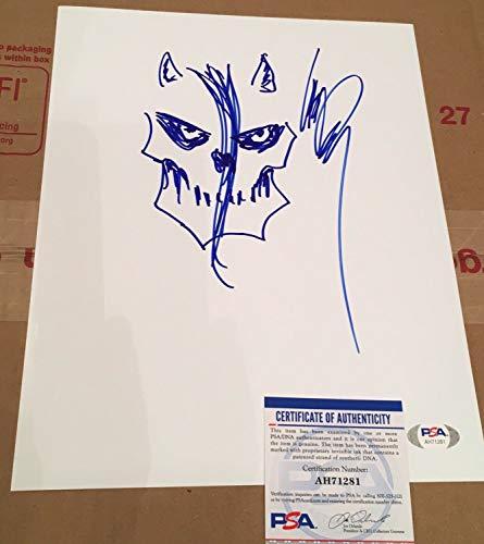 Glenn Danzig Autographed Signed Signed Hand Drawn Original Sketch - PSA/DNA COA Misfits