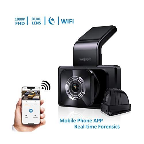 WeJupit 3吋IPS高清屏前后双摄像头 行车记录仪