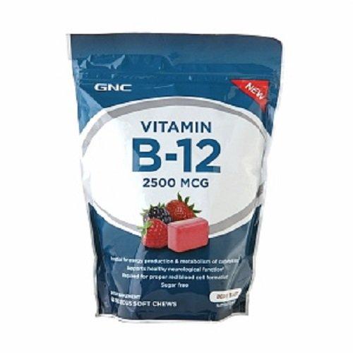 GNC vitamine B-12 2500 MCG souple à mâcher, Berry Blast, 60 ch