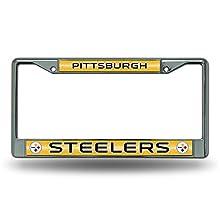 NFL Pittsburgh Steelers Bling Chrome Plate Frame