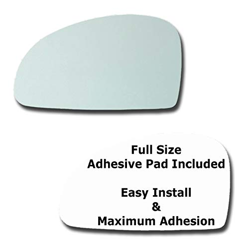 Mirror Glass + Full Size Adhesive Pad for 2004-2009 Kia Spectra Driver Side Replacement