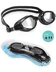 TOPLUS Swimming Goggles, No Leaking Anti Fog UV Protection Swim Goggles Soft Silicone Nose Bridge for Men, Women, Junior, Kids