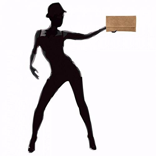 CASPAR pour main daim en Clair Marron femme à Sac TL702 rCWwR1qr