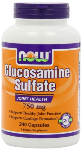 NOW Glucosamine Sulfate 750mg, 240 Capsules (Now Foods Glucosamine)