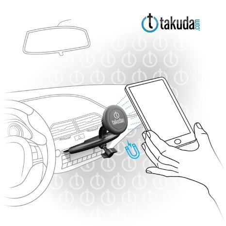 Takuda Magnet Universal Car Phone Holder Smartphone CD Slot