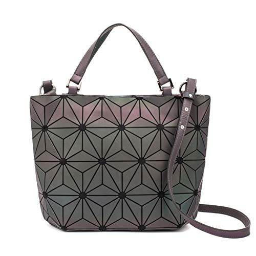 Geometric Luminous Purses and Handbags Holographic Purse Lumikay Bag Reflective Leather Irredescent Tote NO.4
