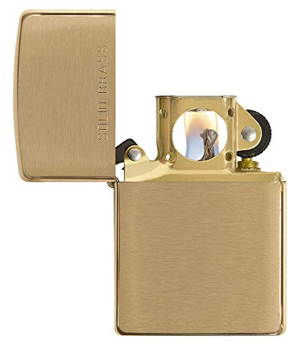 Zippo Pipe Lighter: Solid Brass - Brushed Brass ()