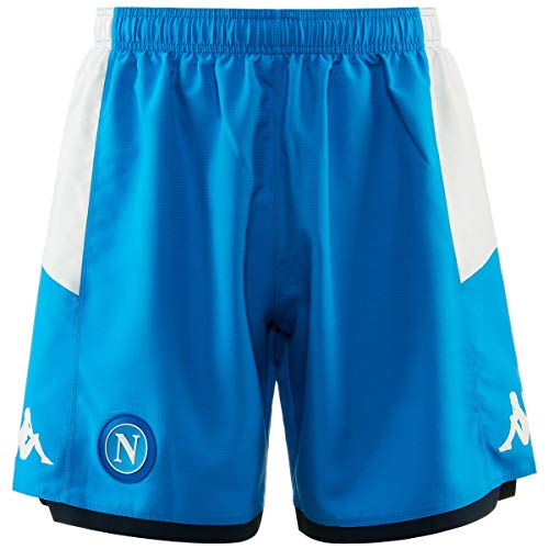 Napoli Blue Shirt - Ssc Napoli Italian Serie A Men's Home Match Shorts, SkyBlue, L