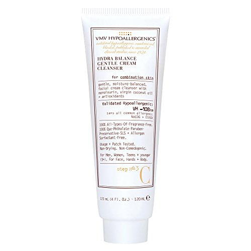 VMV Hypoallergenics Superskin Hydra Balance Gentle Cream Cleanser for Combination Skin, 4 Fluid Ounce