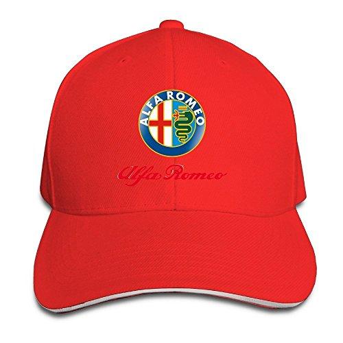 hmkolo-alfa-romeo-sandwich-baseball-caps-for-unisex-adjustable-red