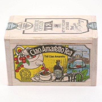 The Metropolitan Tea Company 62WD-618B-138 Ciao Amaretto 25 Teabags in Wood (Amaretto Tea Bags)
