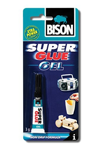 1 x 6305573 Bison Super Glue Instant Universal Adhesive 3g Gel with re-sealable cap