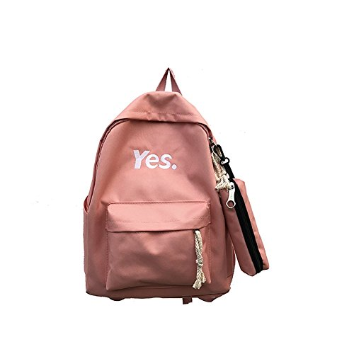 Slendima Durable Nylon Fashion Letters Students Backpack with Pencil Bag,Girls Casual Travel Bag - 4 Colors is Available by Slendima