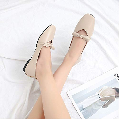 single FLYRCX shallow EU ladies Bow comfortable shoes 40 fashion shoes flat mouth work casual office shoes shoes T0pqR0