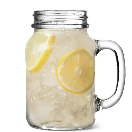 The Original Mason Drinking Jar Glasses 1 Pint - Set of 4 - Gift Boxed Drinking Jars for Cocktails and - Glasses Overnight