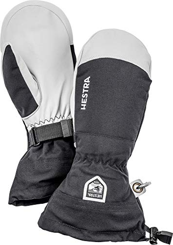 Hestra Army Leather Heli Ski Glove - Classic Snow Mitten for Skiing and Mountaineering - Black - 10 from Hestra