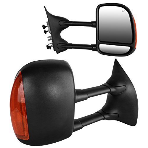 Duty Towing Mirror Signal Truck - DEDC 1999-2007 Pair of Towing Mirrors Side View Mirrors Power Heated With Signal Lights Passenger Side and Driver Side Fit 1999 2000 2001 2002 2003 2004 2005 2006 2007 Ford Super Duty F250 F350 F450