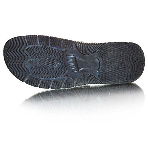 39 12 7 39 Leder Zehentrenner Slipper 9 gepolstert Schwarz 8 Braun Komfort Sandalen 11 Herren 10 Schwarz Größe Txzw6p6q
