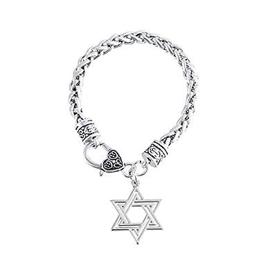 Top Kebaner Women Religious Judaism Jewish Hexagram Star of David Pendant Charm Bracelet Best Friend Gifts