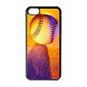 wugdiy Custom Hard Plastic Back Case Cover for iPhone 5C with Unique Design Baseball